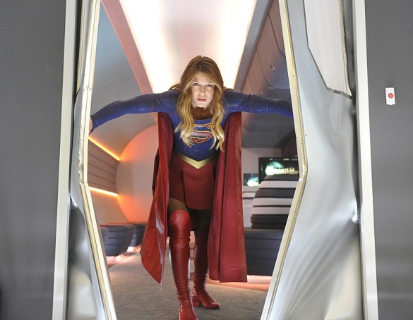 """How Does She Do It?"" -- Kara's (Melissa Benoist, pictured) two identities are stretched thin when Supergirl must protect National City from a series of bombings and Kara is tasked with babysitting Cat's son, Carter, on SUPERGIRL, Monday, Nov. 16 (8:00-9:00 PM, ET/PT) on the CBS Television Network.  Photo: Darren Michaels/Warner Bros. Entertainment Inc. © 2015 WBEI. All rights reserved."