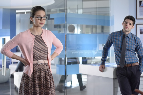 """Blood Bonds"" -- With Astra in captivity at the DEO, her husband, Non (Chris Vance), captures Hank, leading to a tense standoff between the two sides. Also, Kara continues to refute Cat's allegations that she is Supergirl, on SUPERGIRL, Monday, Jan. 4 (8:00-9:00 PM) on the CBS Television Network. Pictured left to right: Melissa Benoist and Jeremy Jordan Photo: Erica Parise/Warner Bros. Entertainment Inc. © 2015 WBEI. All rights reserved."
